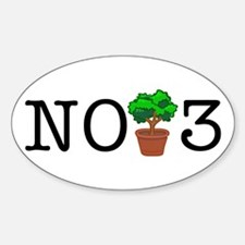 No Third Bush Oval Decal