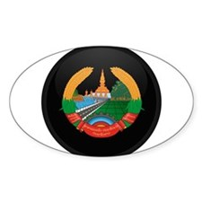 Coat of Arms of Laos Oval Decal