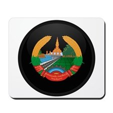 Coat of Arms of Laos Mousepad