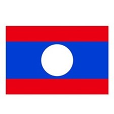Laos Flag Postcards (Package of 8)