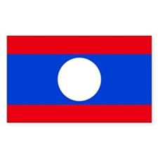 Laos Flag Rectangle Decal