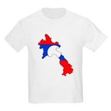 Laos Flag Map T-Shirt