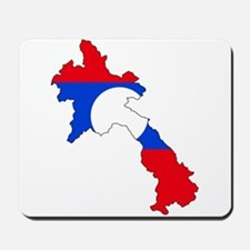 Laos Flag Map Mousepad
