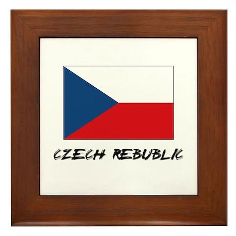 Czech Rebublic Flag Framed Tile