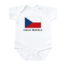 Czech Rebublic Flag Infant Bodysuit
