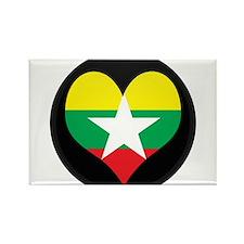 I love myanmar Flag Rectangle Magnet