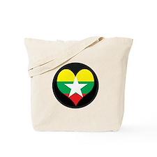 I love myanmar Flag Tote Bag
