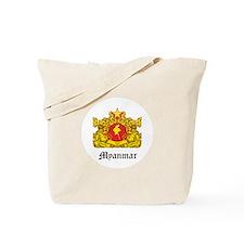 Burma Coat of Arms Seal Tote Bag