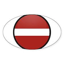 Latvia Oval Decal