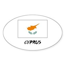 Cyprus Flag Oval Decal