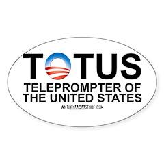 TOTUS Oval Sticker (50 pk)