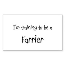 I'm training to be a Farrier Rectangle Decal