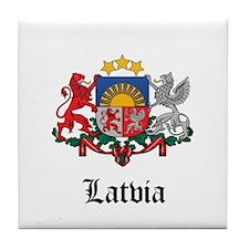 Latvian Coat of Arms Seal Tile Coaster
