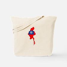myanmar Flag Map Tote Bag