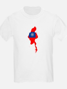 myanmar Flag Map T-Shirt