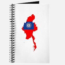 myanmar Flag Map Journal