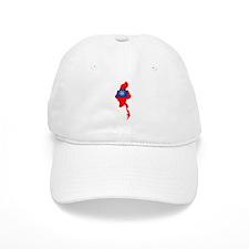 myanmar Flag Map Baseball Cap