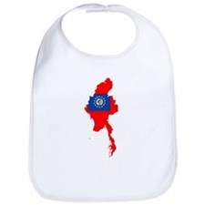 myanmar Flag Map Bib
