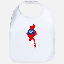 myanmar Flag Map Bib