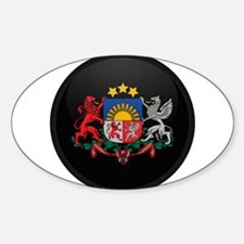 Coat of Arms of Latvia Oval Decal