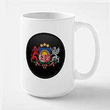 Coat of Arms of Latvia Large Mug