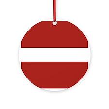 Latvian Ornament (Round)