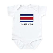 Costa Rico Flag Infant Bodysuit