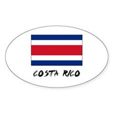 Costa Rico Flag Oval Decal