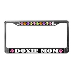 Doxie Mom Pet License Plate Frame