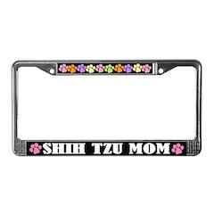 Shih Tzu Mom License Plate Frame