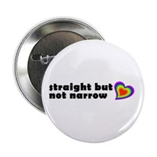 """Straight But Not Narrow 2.25"""" Button (10 pack)"""