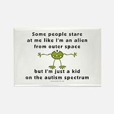 Autism Alien Rectangle Magnet