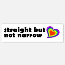 Straight But Not Narrow Bumper Bumper Bumper Sticker