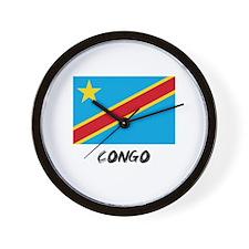 Congo Flag Wall Clock