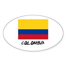 Colombia Flag Oval Decal