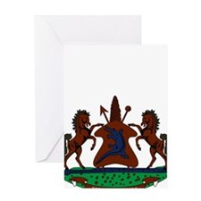 lesotho Coat of Arms Greeting Card