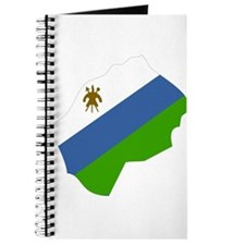 lesotho Flag Map Journal