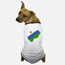 lesotho Flag Map Dog T-Shirt