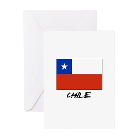 Chile Flag Greeting Card