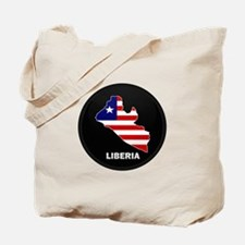 Flag Map of LIBERIA Tote Bag