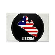 Flag Map of LIBERIA Rectangle Magnet