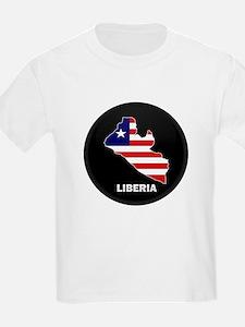 Flag Map of LIBERIA T-Shirt