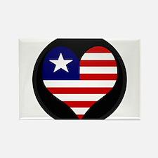 I love LIBERIA Flag Rectangle Magnet