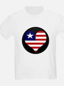I love LIBERIA Flag T-Shirt