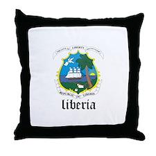 Liberian Coat of Arms Seal Throw Pillow