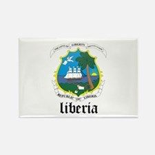 Liberian Coat of Arms Seal Rectangle Magnet
