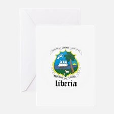 Liberian Coat of Arms Seal Greeting Card