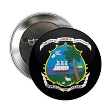 "Coat of Arms of LIBERIA 2.25"" Button"