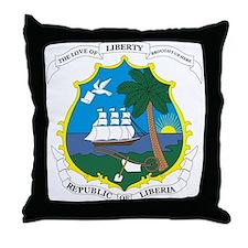 LIBERIA Coat of Arms Throw Pillow