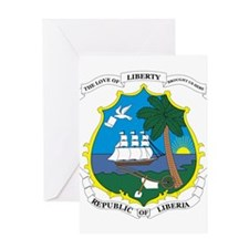 LIBERIA Coat of Arms Greeting Card